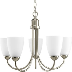 Progress Lighting Gather 20-1/2 in. 13W 5-Light Chandelier with Bulb PP4441EBWB