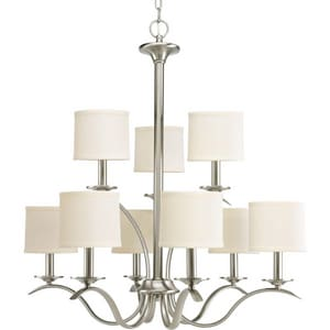Progress Lighting Inspire 60W 9-Light Candelabra E-12 Incandescent Chandelier PP4638