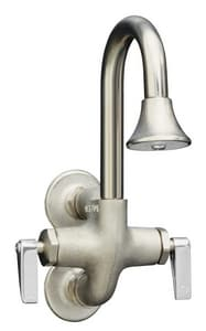 Kohler Cannock™ Wall Mount Wash Sink Faucet with Double Lever Handle in Rough Plate K8892-RP