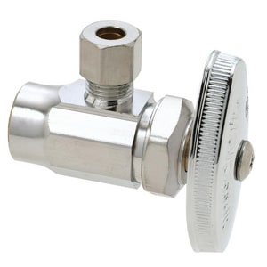 Brass Craft 1/2 in. Sweat x 3/8 in. Compression Straight Stop Chrome Plated BR14XC