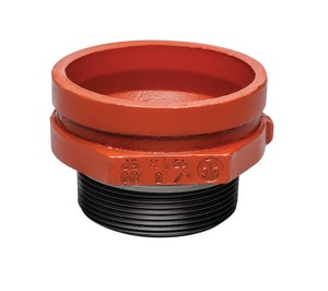 Victaulic Style 52 3 x 1 in. Grooved x Threaded 1000# Painted Concentric Reducer VFC38052P00