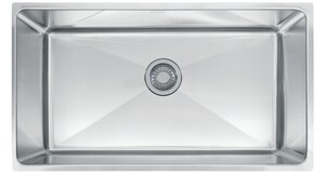 Franke Consumer Products Professional 32-1/2 x 16 x 10 in. Single Bowl Kitchen Sink Stainless Steel FPSX1103310