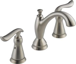 Delta Faucet Linden™ Double Lever Handle Widespread Deckmount Lavatory Faucet Diamond Seal Technology D3594MPUDST