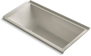Kohler Underscore® 60 x 30 in. Acrylic 3-Wall Alcove Rectangular Bathtub with Right Drain K1121-R
