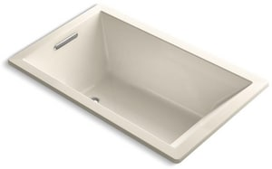 Kohler Underscore® 60 x 36 in. Acrylic Drop-In Rectangular Bathtub with End Drain K1848