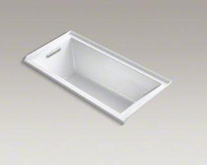 Kohler Underscore® 60 x 30 in. 3-Wall Alcove Bathtub with Integral Flange and Left Hand Drain K1121-L