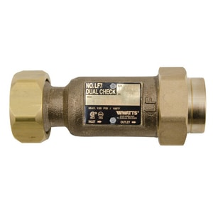 Watts 1-1/4 in. Residential Fire Sprinkler Dual Backflow Preventer WLF07SU23HH