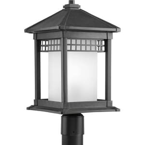Progress Lighting Merit 100W 1-Light Medium Base Incandescent Lantern in Black PP640031