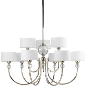 Progress Lighting 60W 9-Light Candelabra Incandescent Chandelier PP4675