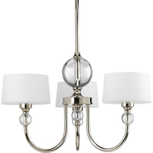 Progress Lighting Fortune 12-1/2 in. 60 W 3-Light Candelabra Chandelier in Polished Nickel PP4673104