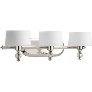 Progress Lighting Fortune 22-7/8 in. 100W 3-Light Vanity Fixture PP2927WB