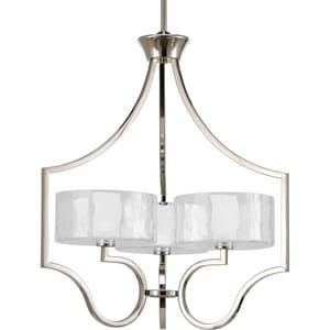 Progress Lighting Caress 60W 3-Light Candelabra E-12 Halogen Chandelier PP4644WB