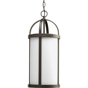 Progress Lighting Greetings 1-Light 100W Hanging Lantern in Antique Bronze PP554920