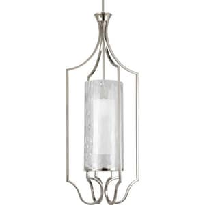 Progress Lighting Caress 44-3/4 in. 100 W 1-Light Medium Pendant in Polished Nickel PP3947104