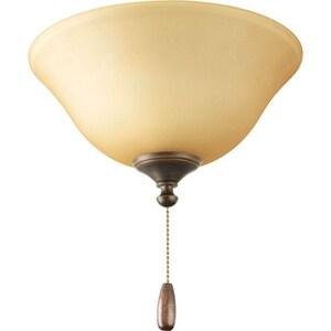 Progress Lighting AirPro 40 W 3-Light Candelabra Ceiling Fan Light in Antique Bronze PP261220T