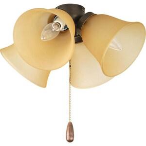 Progress Lighting AirPro 40 W 4-Light Candelabra Ceiling Fan Light in Antique Bronze PP264320T