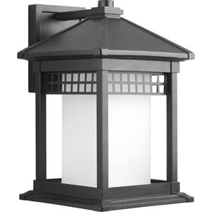 Progress Lighting Merit 100W 1-Light Medium Lantern in Black PP600231