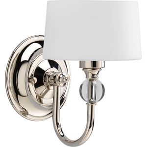 Progress Lighting Fortune 60W 1-Light Wall Sconce in Polished Nickel PP7049104WB