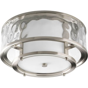 Progress Lighting Bay Court 60W 2-Light 120V Medium Flushmount Ceiling Fixture PP3942