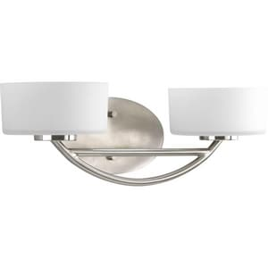 Progress Lighting Calven 18 in. 100W 2-Light Vanity Fixture PP3210WB