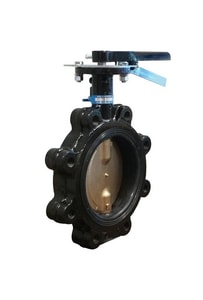 Milwaukee Valve Ultra Pure™ 200 psi Flanged Ductile Iron Butterfly Valve with Lever Handle MML234EDDE