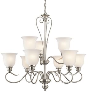 Kichler Lighting Tanglewood Collection 100W 9-Light Medium Incandescent Chandelier KK42907