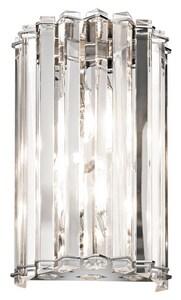 Kichler Lighting Crystal Skye 50W 2-Light Wall Sconce in Polished Chrome KK42175CH