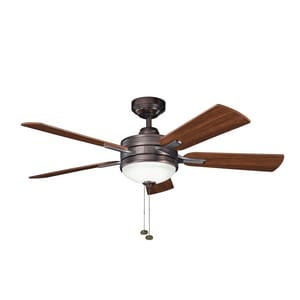 Kichler Lighting Logan 40W 5-Blade Ceiling Fan with 52 in. Blade Span and 3-Light KK300148