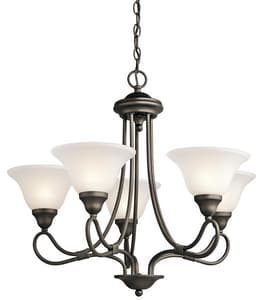 Kichler Lighting Stafford 23 in. 100W 5-Light Medium Incandescent Chandelier KK2557