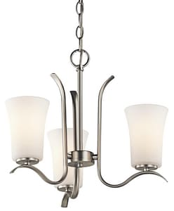 Kichler Lighting Armida 14-1/4 in. 100W 3-Light Medium Chandelier KK43073