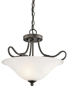 Kichler Lighting 14-1/4 in. 2-Light Semi-Flushmount Ceiling Light KK3757