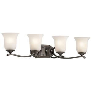 Kichler Lighting Wellington Square™ 4-Light Bath Light KK45404