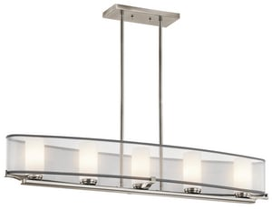 Kichler Lighting Saldana 39 in. 50W 5-Light G9 Halogen Linear Chandelier KK42920