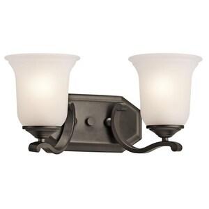 Kichler Lighting Wellington Square™ 100W 2-Light Bath Vanity Fixture KK45402