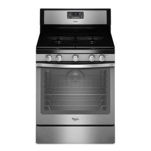 Whirlpool 30 in. 5.8 cf Self Cleaning Free Standing Gas Range WWFG540H0A