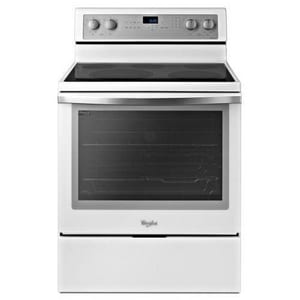 Whirlpool 6.2 cf 30 in. Self Cleaning Free Standing Electric Convection Range WWFE710H0A