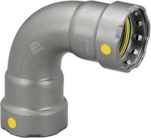 Viega MegaPressG Press Carbon Steel 90 Degree Elbow with HNBR Sealing Element V2522