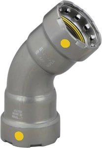 Viega North America MegaPressG Press Carbon Steel 45 Degree Elbow with HNBR Sealing Element V2521