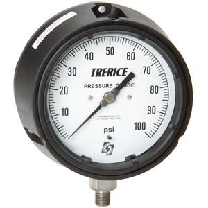 H.O. Trerice 450 Series 4-1/2 x 1/4 in. Lower Mount Pressure Gauge T450LFSS02LA