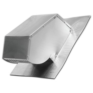 Lambro Industries 4 in. Roof Cap with Damper & Screen Aluminum L109R