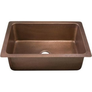 Thompson Traders Renovations Single Bowl Copper Kitchen Sink TKSU3020AH