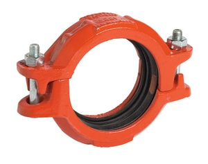 Style 307 Grooved Painted AWWA Transition Coupling Forged Steel with M Gasket VC307PM0