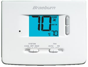 Braeburn Systems Builder Builder Non Programmable Thermostat BRA1020NC