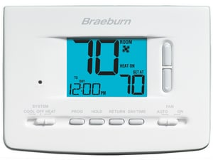 Braeburn Systems Economy 7 Programmable Digital Thermostat BRA2020
