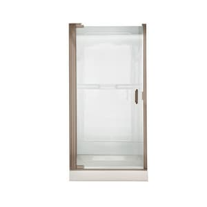American Standard Euro® 66 x 24-1/4 x 25-43/100 in. Frameless Shower Door with Clear Glass AAM0301D400