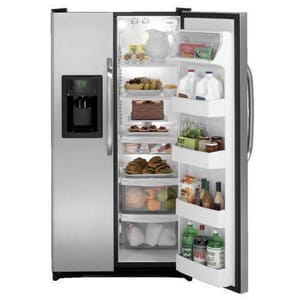General Electric Appliances 25.3 CF 15 A Side-by-Side Refrigerator With Dispenser GGSH25JSD