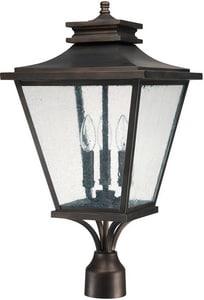 Capital Lighting Fixture Gentry 23-1/2 x 12 in. 3-Light Outdoor Post Lantern in Old Bronze C9466OB