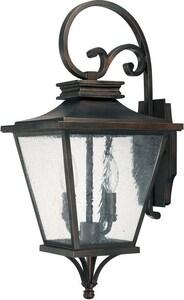 Capital Lighting Fixture Gentry 22 in. 60W 2-Light Outdoor Wall Lantern in Old Bronze C9462OB
