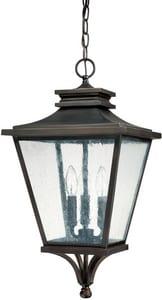 Capital Lighting Fixture Gentry 3-Light Outdoor Hanging Lantern in Old Bronze C9465OB