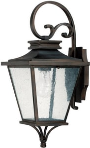 Capital Lighting Fixture Gentry 19 in. 75W 1-Light Outdoor Wall Lantern in Old Bronze C9461OB